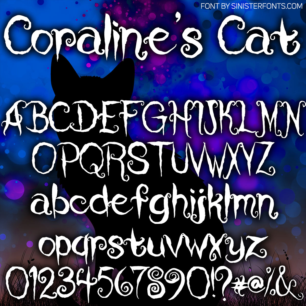 Coraline's Cat Font : Click to Download
