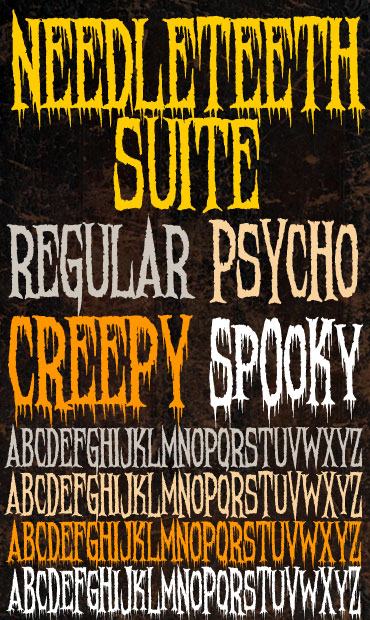 Needleteeth Font Suite : Click to Download