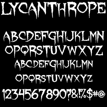 Lycanthrope Font : Click to Download